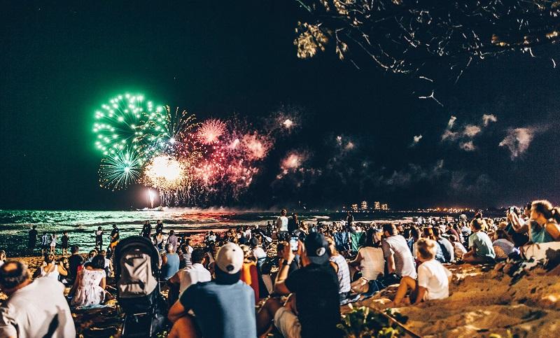 Fireworks At Mooloolaba Beach Photo From Sunshine Coast Website