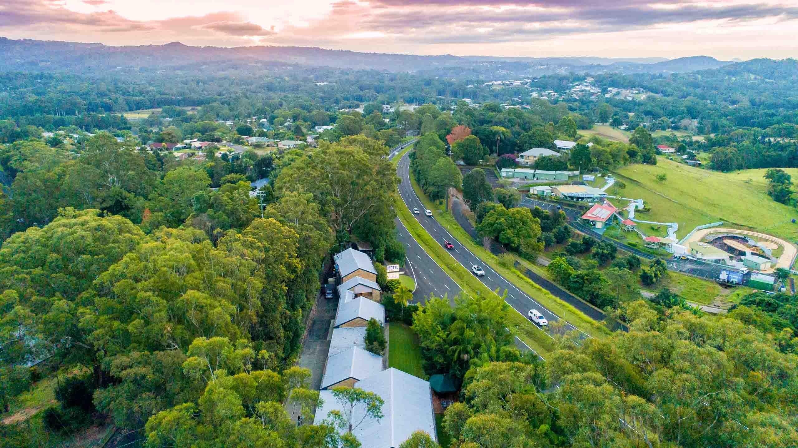 Sunshine Coast Motor Lodge location aerial